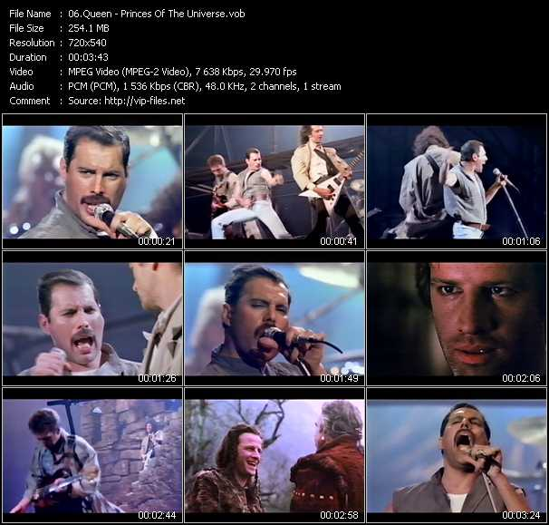Queen video - Princes Of The Universe