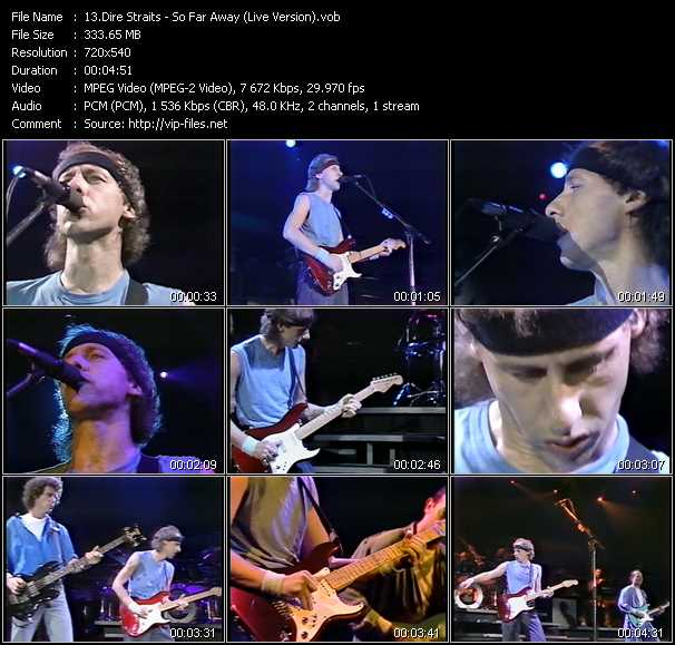 Dire Straits video - So Far Away (Live Version)