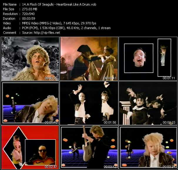 A Flock Of Seagulls video - Heartbreak Like A Drum