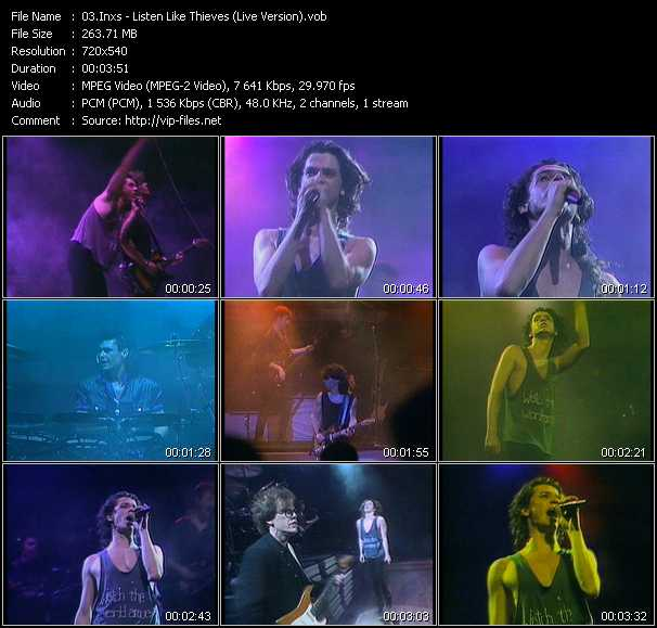 Inxs video - Listen Like Thieves (Live Version)