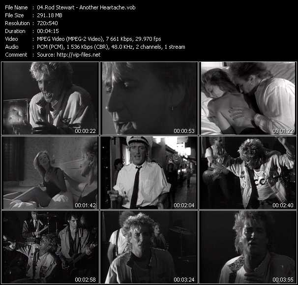 Rod Stewart video - Another Heartache