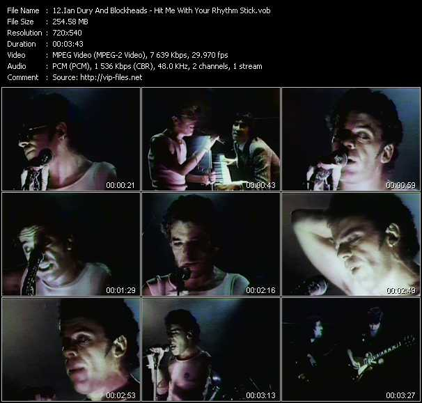 Ian Dury And The Blockheads video - Hit Me With Your Rhythm Stick