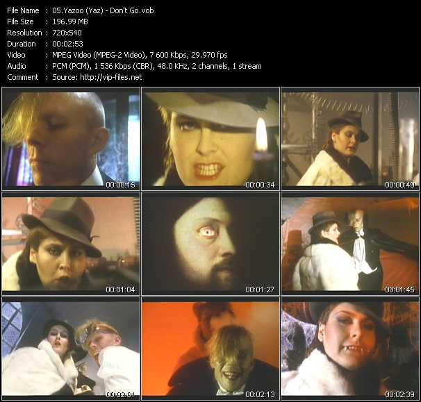 Yazoo (Yaz) video - Don't Go