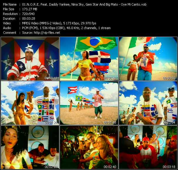 N.O.R.E. Feat. Daddy Yankee, Nina Sky, Gem Star And Big Mato video - Oye Mi Canto