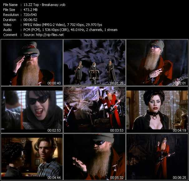 ZZ Top video - Breakaway