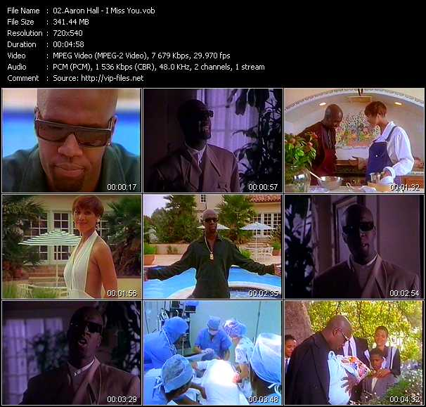 Aaron Hall video - I Miss You