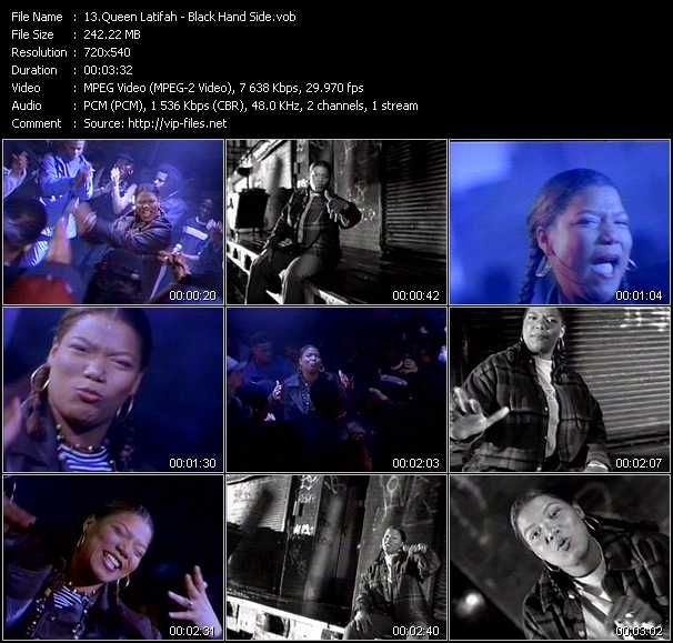 Queen Latifah video - Black Hand Side