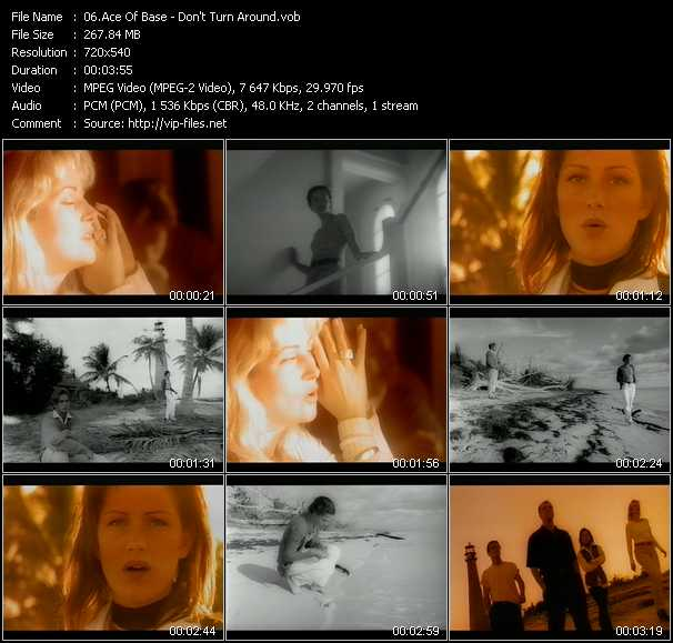 Ace Of Base video - Don't Turn Around