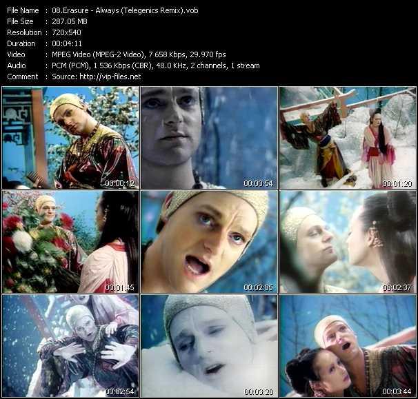 Erasure video - Always (Telegenics Remix)