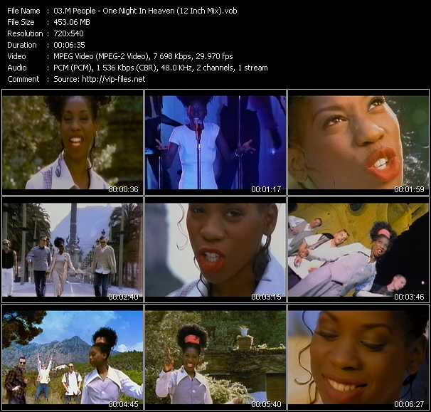 M People video - One Night In Heaven (12 Inch Mix)