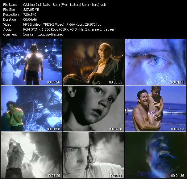 Nine Inch Nails video - Burn (From Natural Born Killers)