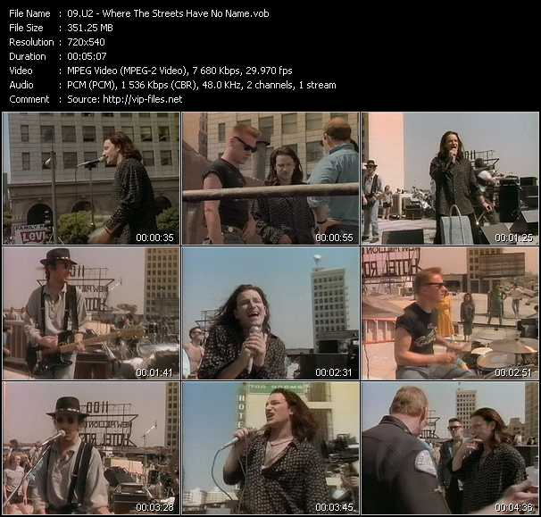 U2 video - Where The Streets Have No Name