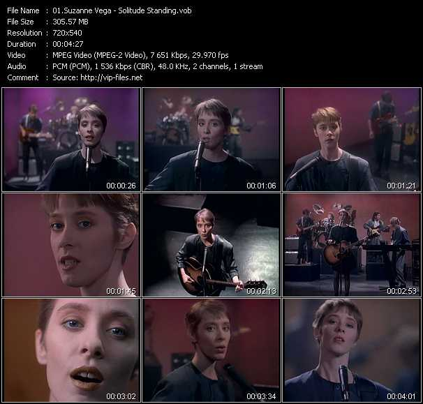 Suzanne Vega video - Solitude Standing