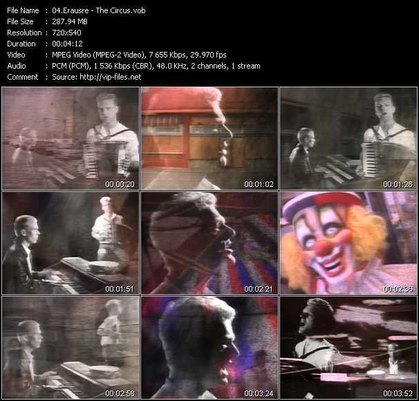 Erasure video - The Circus