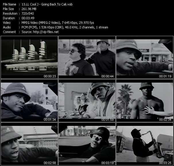 LL Cool J video - Going Back To Cali