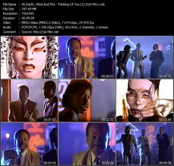 Earth, Wind And Fire video - Thinking Of You (12 Inch Mix)