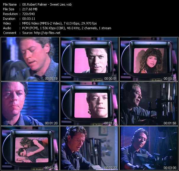 Robert Palmer video - Sweet Lies