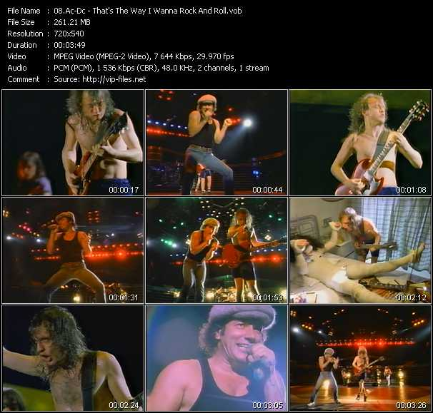 Ac-Dc video - That's The Way I Wanna Rock And Roll