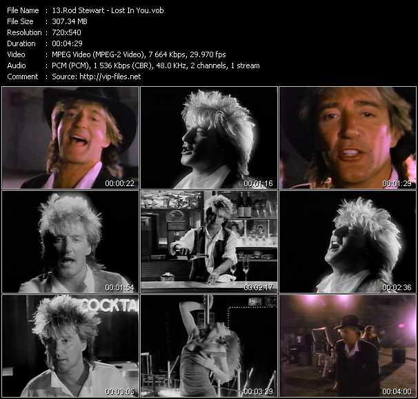 Rod Stewart video - Lost In You