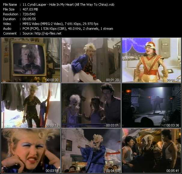 Cyndi Lauper video - Hole In My Heart (All The Way To China)