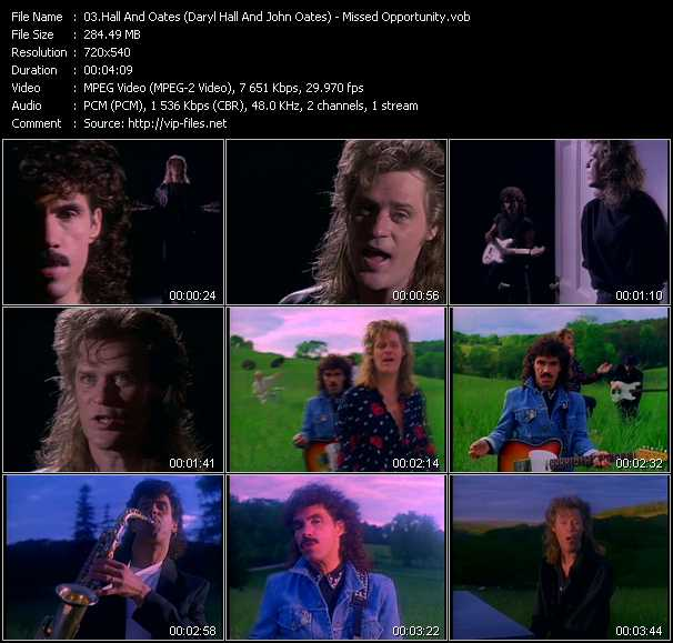 Hall And Oates (Daryl Hall And John Oates) video - Missed Opportunity