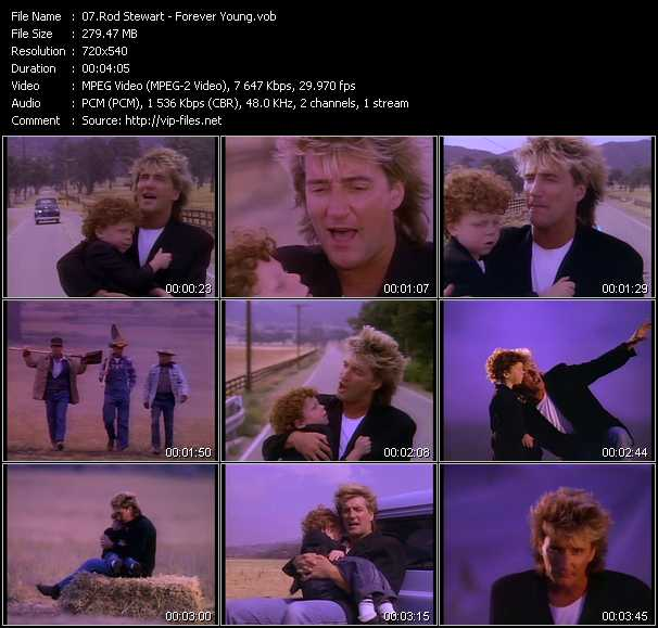 Rod Stewart video - Forever Young