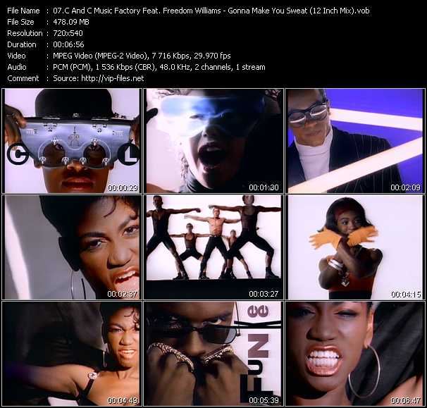 C And C Music Factory Feat. Freedom Williams video - Gonna Make You Sweat (Everybody Dance Now) (12 Inch Mix)