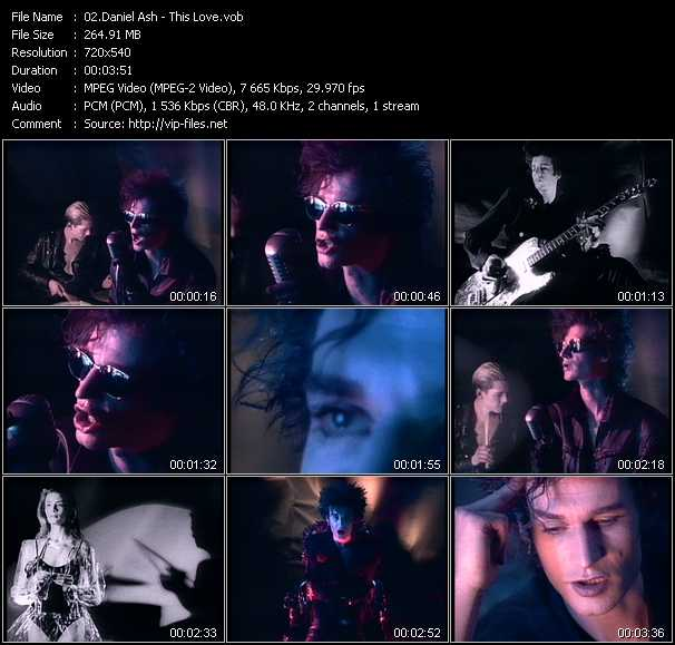 Daniel Ash video - This Love
