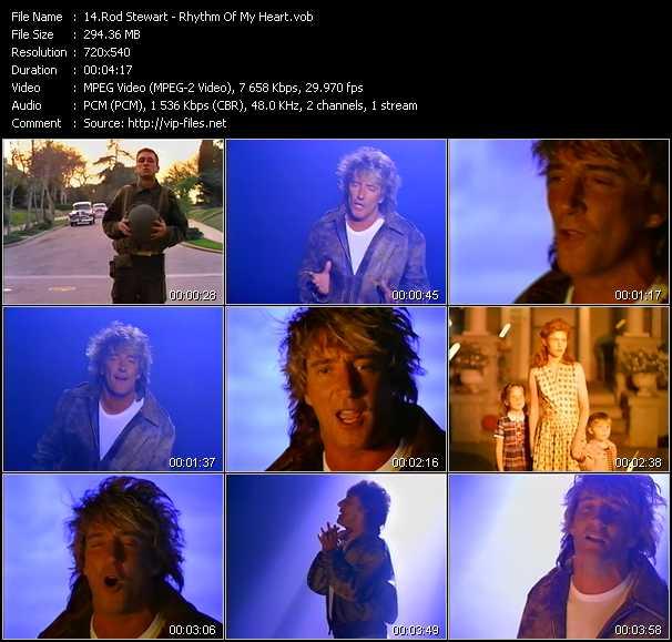 Rod Stewart video - Rhythm Of My Heart