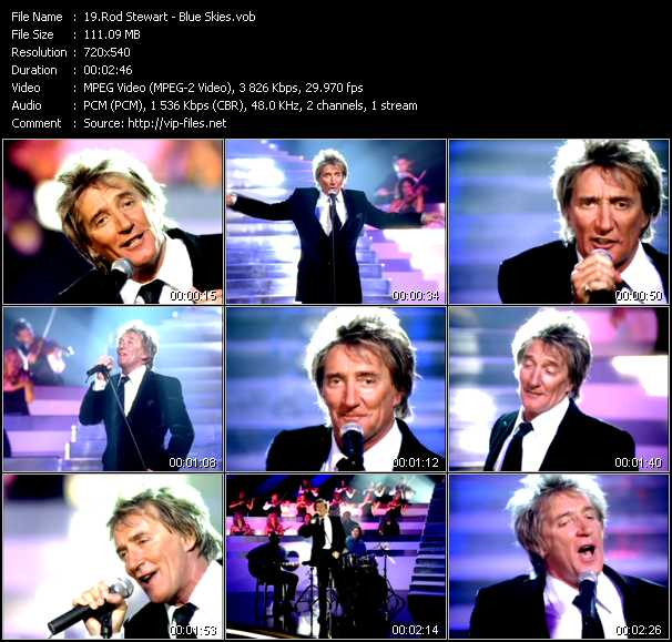 Rod Stewart video - Blue Skies