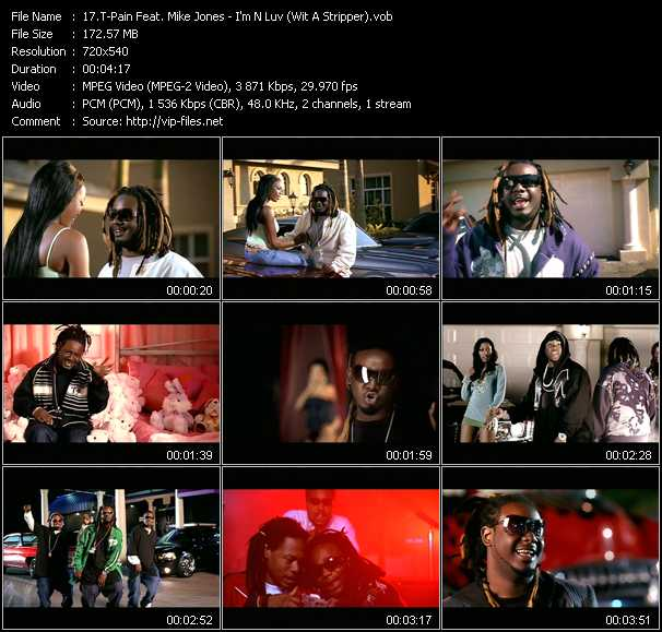 T-Pain Feat. Mike Jones video - I'm N Luv (Wit A Stripper)