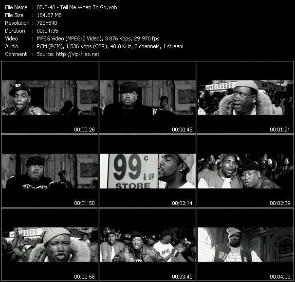E-40 video - Tell Me When To Go