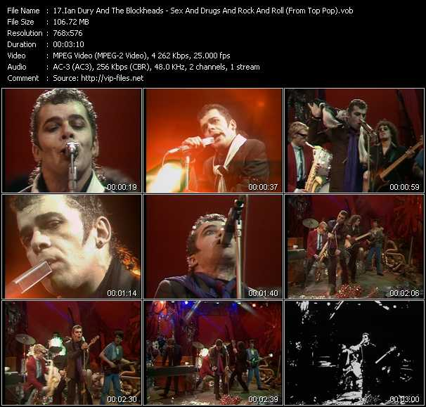 Ian Dury And The Blockheads video - Sex And Drugs And Rock And Roll (From Top Pop)
