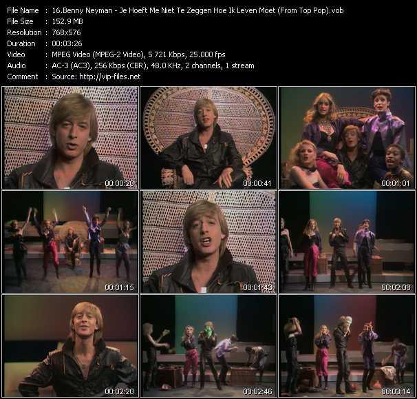 Benny Neyman video - Je Hoeft Me Niet Te Zeggen Hoe Ik Leven Moet (From Top Pop)