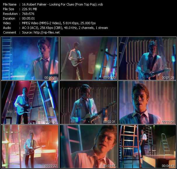 Robert Palmer video - Looking For Clues (From Top Pop)