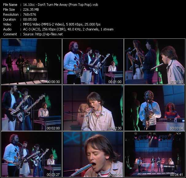 10cc video - Don't Turn Me Away (From Top Pop)