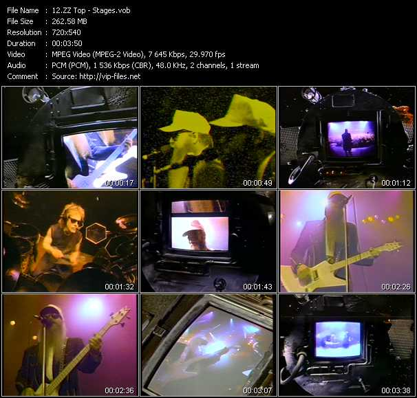 ZZ Top video - Stages