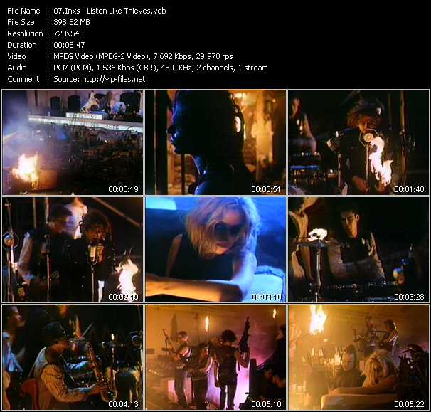 Inxs video - Listen Like Thieves