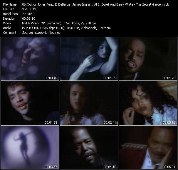 Quincy Jones Feat. El DeBarge, James Ingram, Al B. Sure! And Barry White music video Publish2