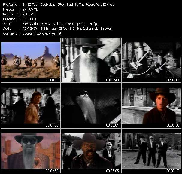 ZZ Top video - Doubleback (From Back To The Future Part III)