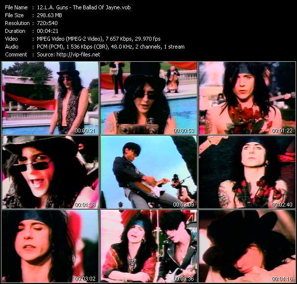 L.A. Guns video - The Ballad Of Jayne