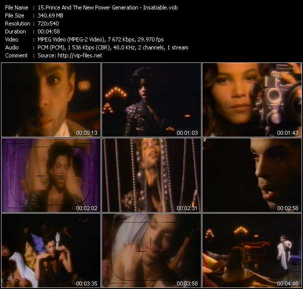 Prince And The New Power Generation video - Insatiable