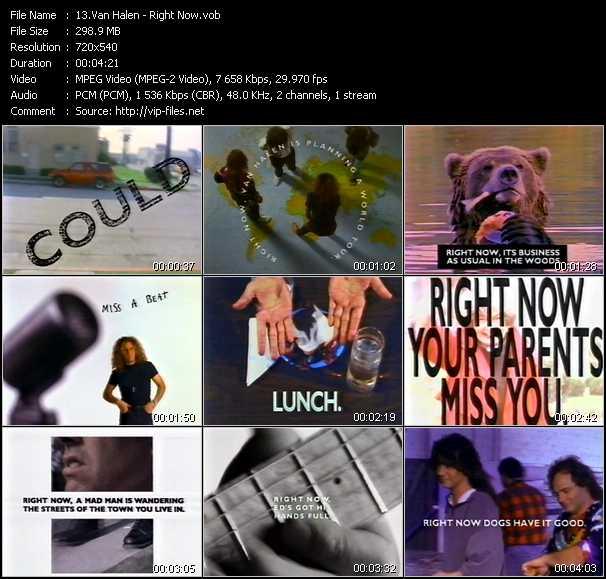 Van Halen video - Right Now
