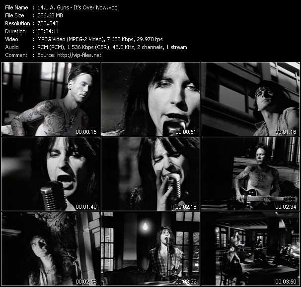 L.A. Guns video - It's Over Now