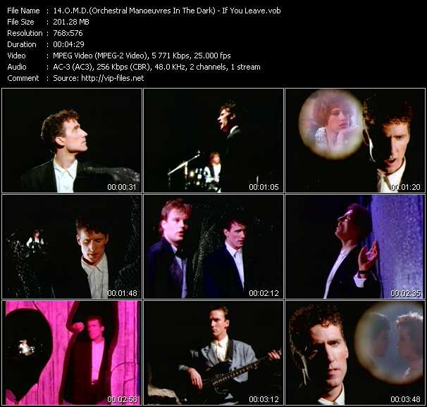 O.M.D. (Orchestral Manoeuvres In The Dark) video - If You Leave