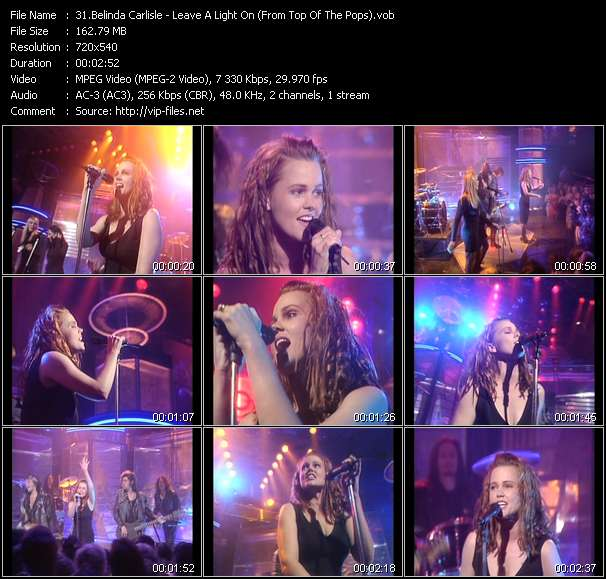 Belinda Carlisle HQ Videoclip «Leave A Light On (From Top Of The Pops)»