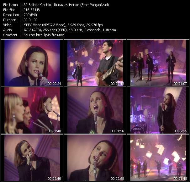 Belinda Carlisle HQ Videoclip «Runaway Horses (From Wogan)»