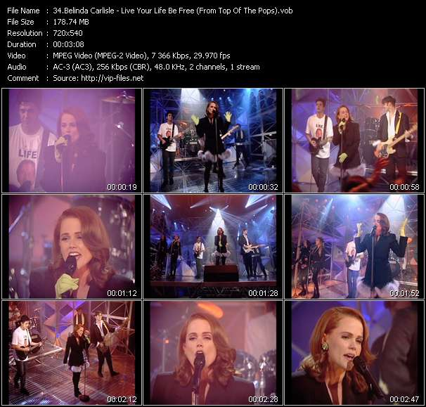 Belinda Carlisle HQ Videoclip «Live Your Life Be Free (From Top Of The Pops)»