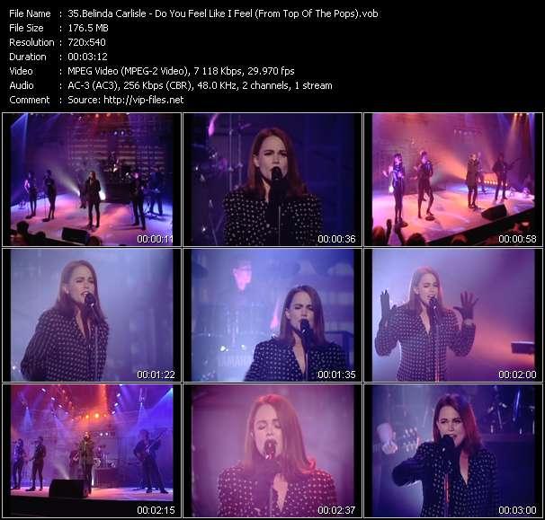 Belinda Carlisle HQ Videoclip «Do You Feel Like I Feel (From Top Of The Pops)»