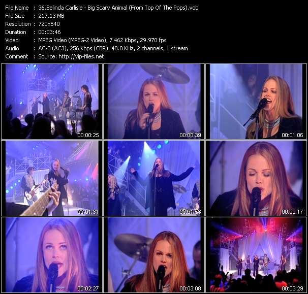 Belinda Carlisle HQ Videoclip «Big Scary Animal (From Top Of The Pops)»